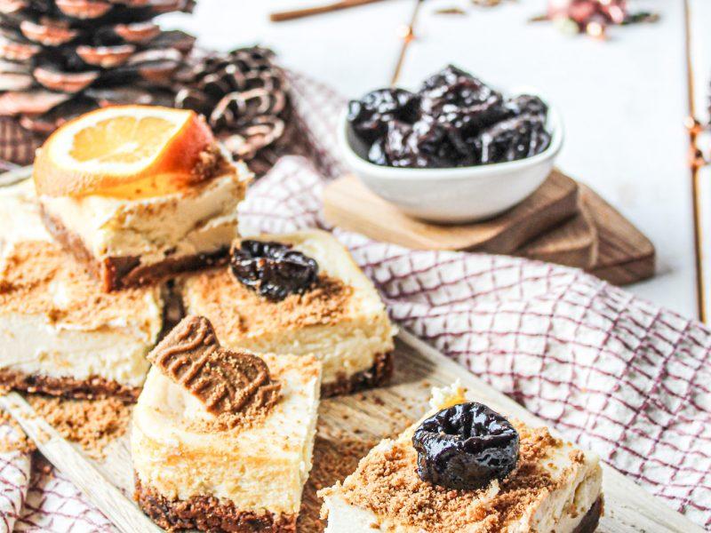 Spekulatius Cheesecake mit Trockenpflaumen